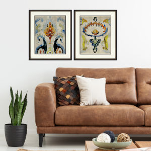 Bohemian Ikat II Multicolor Framed Art, Set of Two