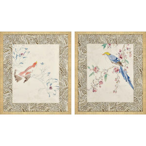 Rustic Paradise I Multicolor Framed Art, Set of Two