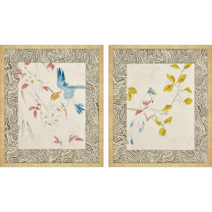 Rustic Paradise II Multicolor Framed Art, Set of Two