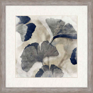 Blooming I Blue Framed Art
