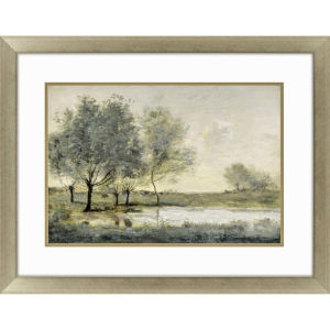 By the Pond II Green Framed Art