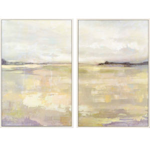 Dyfi Neutral Framed Art, Set of Two
