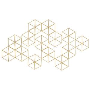 Golden Geos 2 Metallic Wall Sculpture