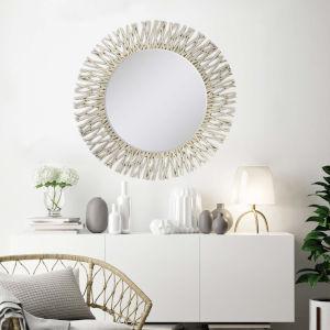 Metallic 40 H x 40 W-Inch Silver Twig Mirror