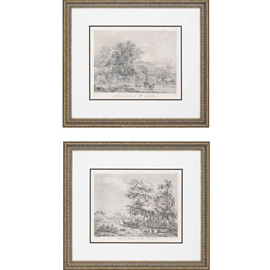 Landscapes by Le Veau: 28 x 32-Inch Framed Wall Art, Set of Two