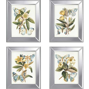 Butterflies: 20 x 16 Framed Acrylic Paint, Set of 4