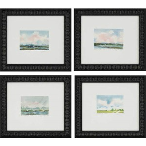 River by Leonard: 14 x 16 Framed Giclee Printed, Set of 4