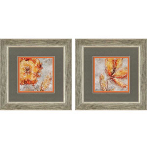 Ashanti by King: 24 x 24-Inch Framed Wall Art, Set of Two