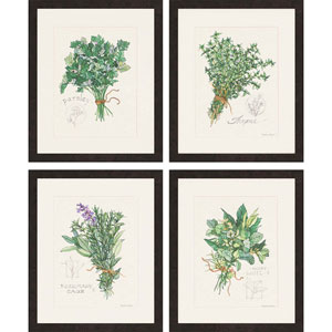Herbs by Roberts: 19 x 23-Inch Wall Art, Set of Four