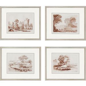 Lorrain Sketches by Lorrain: 20 x 24-Inch Framed Wall Art, Set of Four