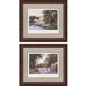 Countryside I by Hakewill: 26 x 30 Framed Giclee Printed, Set of 2