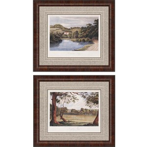 Countryside II by Hakewill: 26 x 30 Framed Giclee Printed, Set of 2