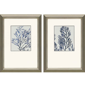 Indigo Coral I: 25 x 19 Framed Print, Set of Two