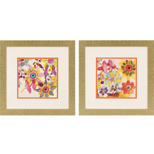 Candy Flowers II by Johannesson: 23 x 23-Inch Framed Art, Set of Two