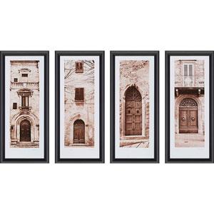 La Porta by Alan Blaustein: 27 x 12 Framed Print, Set of Four