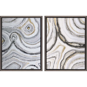 Shades of Gray, Framed Naturals Artwork By: Jardine, Set of Two