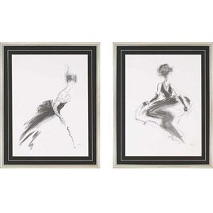 Odette/Rene by Hartley: 30 x 24-Inch Framed Wall Art, Set of Two