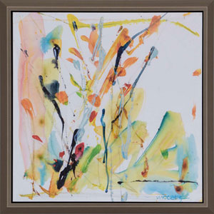 Art Drops 1, Framed Abstract Artwork By: McCabe