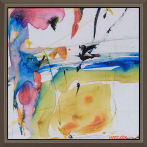 Art Drops 2, Framed Abstract Artwork By: McCabe