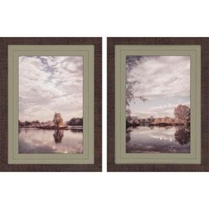 Reflect , Framed Scenic Artwork By: Poinski, Set of Two