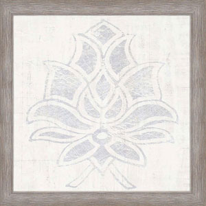 Weathered Damask I: 28 x 28 Framed Print