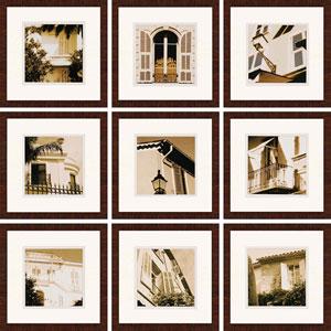 Long Afternoon II by Sanders: 18 x 18-Inch Framed Wall Art, Set of Nine