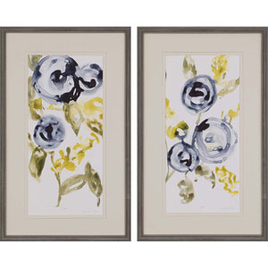 Anemone by Goldberger: 34 X 21-Inch Framed Art , Set of Two