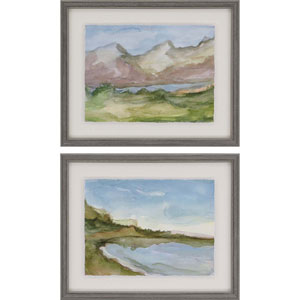 Plein Air Landscape by Harper: 18 X 22-Inch Framed Art , Set of Two