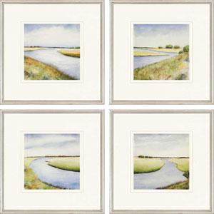 Marsh by Coggins: 21 x 21-Inch Framed Wall Art, Set of Four