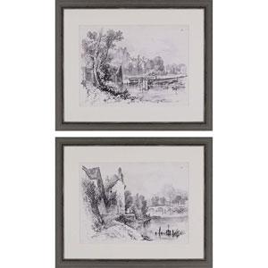 Idyllic Landscape I by Harding: 25 H x 31 W-Inch Framed Art , Set of Two