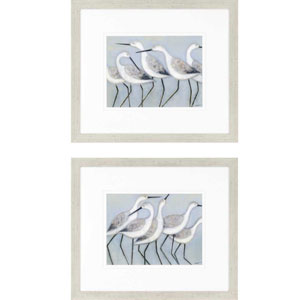 Shore Birds by Norman Wyatt: 24 x 28 Framed Print, Set of Two