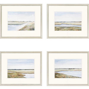 Marshes by Coggins: 18 x 22 Framed Print, Set of Four