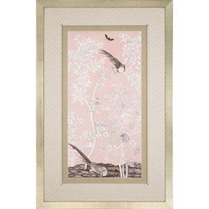 Blush Chinoiserie II By: McCavitt, 51 x 33 In. Framed Art