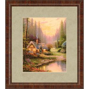 Meadowood Cottage by Kinkade: 32 x 28-Inch Framed Wall Art
