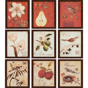 Recollection by Andrew: 14 x 12 Framed Print, Set of Nine