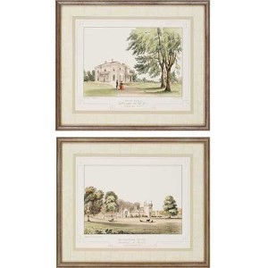 Lancashire Castle I by Greenwood: 22 x 26 Framed Giclee Printed, Set of 2