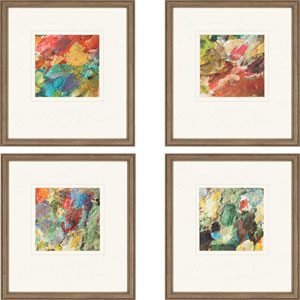 Palette by Sikes: 19 x 17-Inch Framed Wall Art, Set of Four