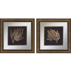 Gold Coral II by Wilson: 23 x 23-Inch Wall Art, Set of Two