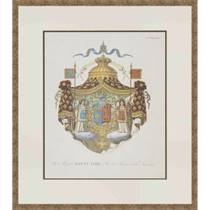 Crests By LeFevre: 20 X 17 Framed Wall Art, Set of 4