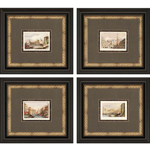 Venice by Prout: 23 x 20-Inch Framed Art, Set of Four