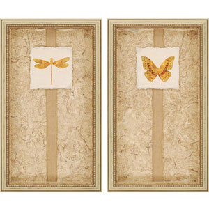 Luxe by Yamada: 15 x 26-Inch Framed Art, Set of Two