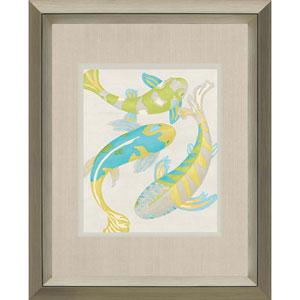 Jade Koi II by Zarris: 42 x 34-Inch Framed Wall Art