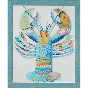 Rock Lobster by Bombosse: 41 x 34 Framed Giclee Printed