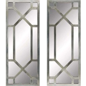 Silver Regency Rectangular Mirror, Set of 2