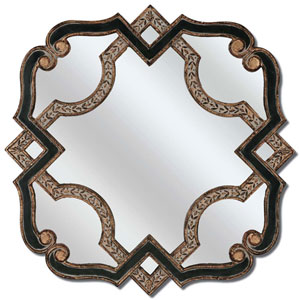 Black and Gold Serpentine Mirror