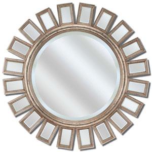 Silver Round Metro Mirror