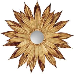 Golden Flower Petals Mirror