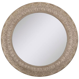 Iconica Wood Round Mirror by: 38 X 38-Inch Mirrors - Decorative