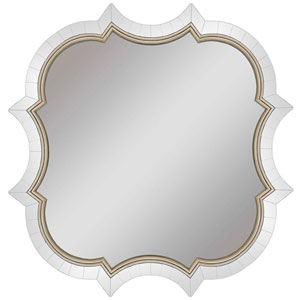 Reverie Silver Arched Mirror Arched 42 X 42-Inch Mirrors - Decorative Mirror