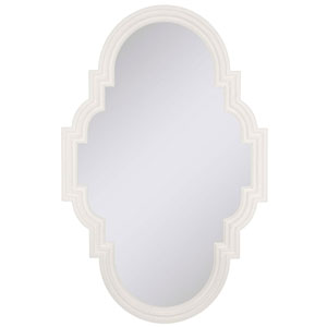 White Stellar Oval Mirror Oval 36 X 23-Inch Mirrors - Decorative Mirror